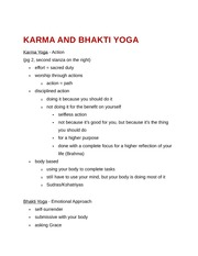Karma and Bhakti Yoga