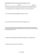 Invert II-prelab, worksheet, review, chart