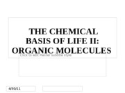 Chapter 3 - Chemical Basis of Life II