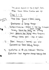 EASC 210  Fall 2014 Great Themes in Geologic History Lecture Notes