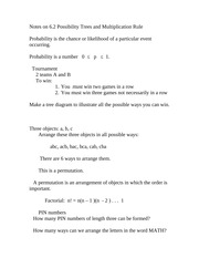 Discrete Math lecture notes possibility trees and multiplication rule