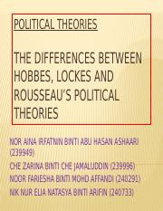 POLITICAL THEORIES slideshow new