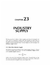 23 Industry Supply