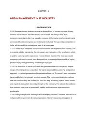 HRD MANAGMENT IN IT INDUSTRY .docx