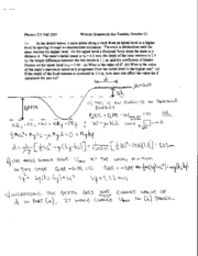 Written Homework 6 Solutions
