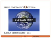 Lecture 1 Globalization