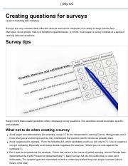 Creating questions for surveys - Lesson 2 - MDM4UC - MyILC.pdf