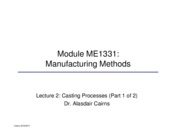 ME1331 Manufacturing lecture 2