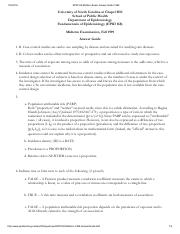 EPID168 Midterm Exam Answer Guide 1999
