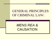 GENERAL PRINCIPLES OF CRIMINAL LAW-mens rea
