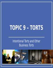 BLAW2205 TOPIC 9 TORTS 2016-17.pptx