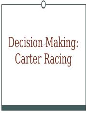 8 - Group decision making - Carter Racing