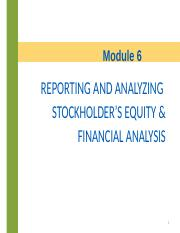 module 5 - financial statement analysis