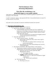 Revolutionary War - Declaring Independence Student Outline-2