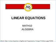 Linear Equations Lesson 1 (final with revision)