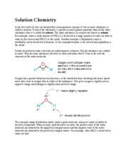 Lecture Note - Solution Chemistry