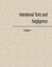Chapter 5 - Torts and Negligence.pptx