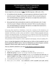ENG1010 Essay Writing (Topics, Assessment Instructions  criteria)(2016-17)