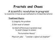 GEOL 130 note Fractals and Chaos