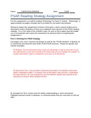 PSAR Reading Strategy Assignment.docx