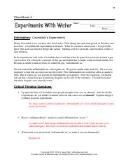 Chemquest 4 - Experinemts with Water