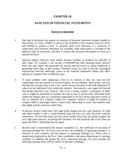Chapter 10 Analysis of Financial Statements