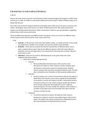 Introduction to International Relations- notes (1).docx