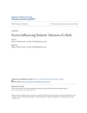 Factors Influencing Students- Selection of a Bank.pdf