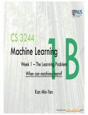 Lect1B The Learning Problem