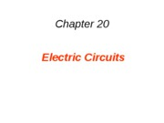 20 Electric Circuits