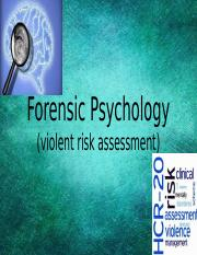 Forensic Psychology .pptx