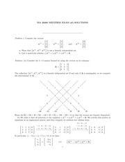 ma303 exam2 fall2010 solution