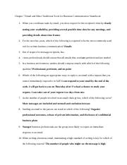 Chapter 7 Email and Other Traditional Tools for Business Communication Smartbook.docx