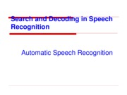 Ch5-Automatic Speech Recognition