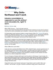 why delta should not buy northwest