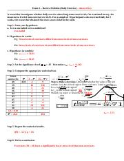 Exam 2 - Review Problem - Daily Exercise - ANSWER KEY