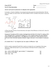 CHEM 437 Practice Test 2 Weak Interactions Solutions