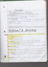 Midterm 2 Note Review AAEC 2305
