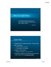 8 - After Tax Cash Flow Analysis