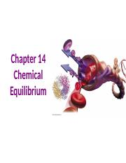 Chapter 14-Chemical Equilibrium- Gen Chem II-S2012.ppt