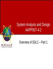 Week05 - Lecture 1 - Overview of SDLC