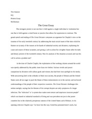 Protest Essay with Charlie Chaplin's The Great Dictator
