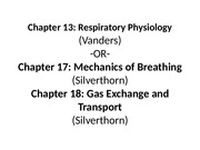 ch.13 Respiratory Physiology
