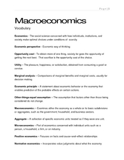 TAMIU Macroeconomics 2301 Chapter 1