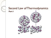 Second Law of Thermodynamics Part I