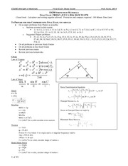 Final-Exam-Study-Guide-2014 on Strength of Materials