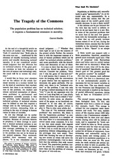 Hardin Tragedy of the Commons Science 1968