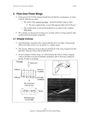 6 Incompressible Flow Over Finite Wings  EAS 4101 S11