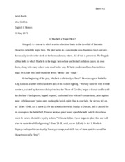 literary analysis if and kipling and i jacob baehr mrs  3 pages macbeth essay