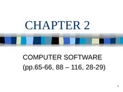 Lecture 2: Computer Software
